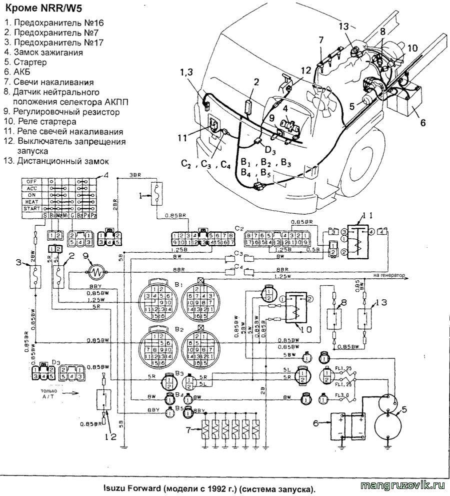 электрическая схема двигателя