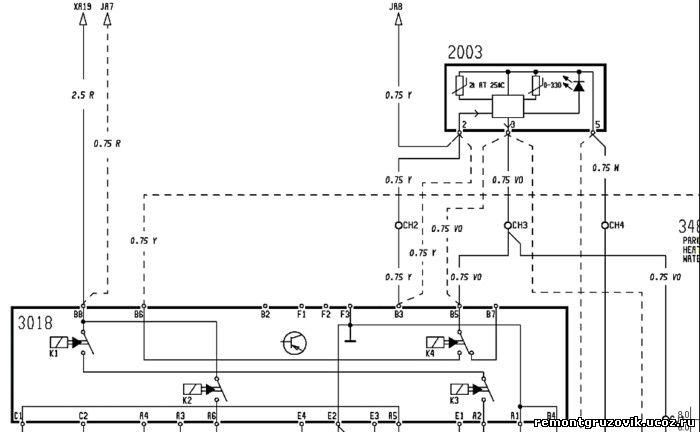 Автономный отопитель эл схема 522