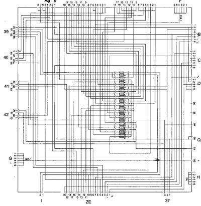 схема внутренней коммутации центрального распределительного устройства MAN TGA