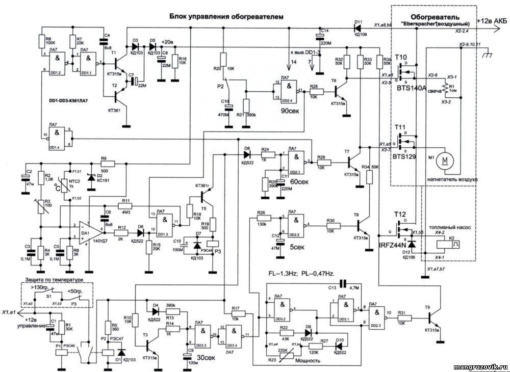 Схема блок упровления