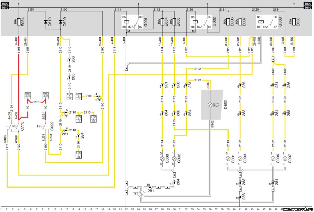 электрическая схема рено dxi