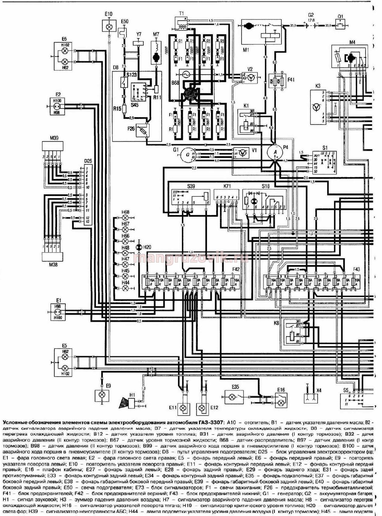 Газ 3307 схема электрооборудования скачать фото 177