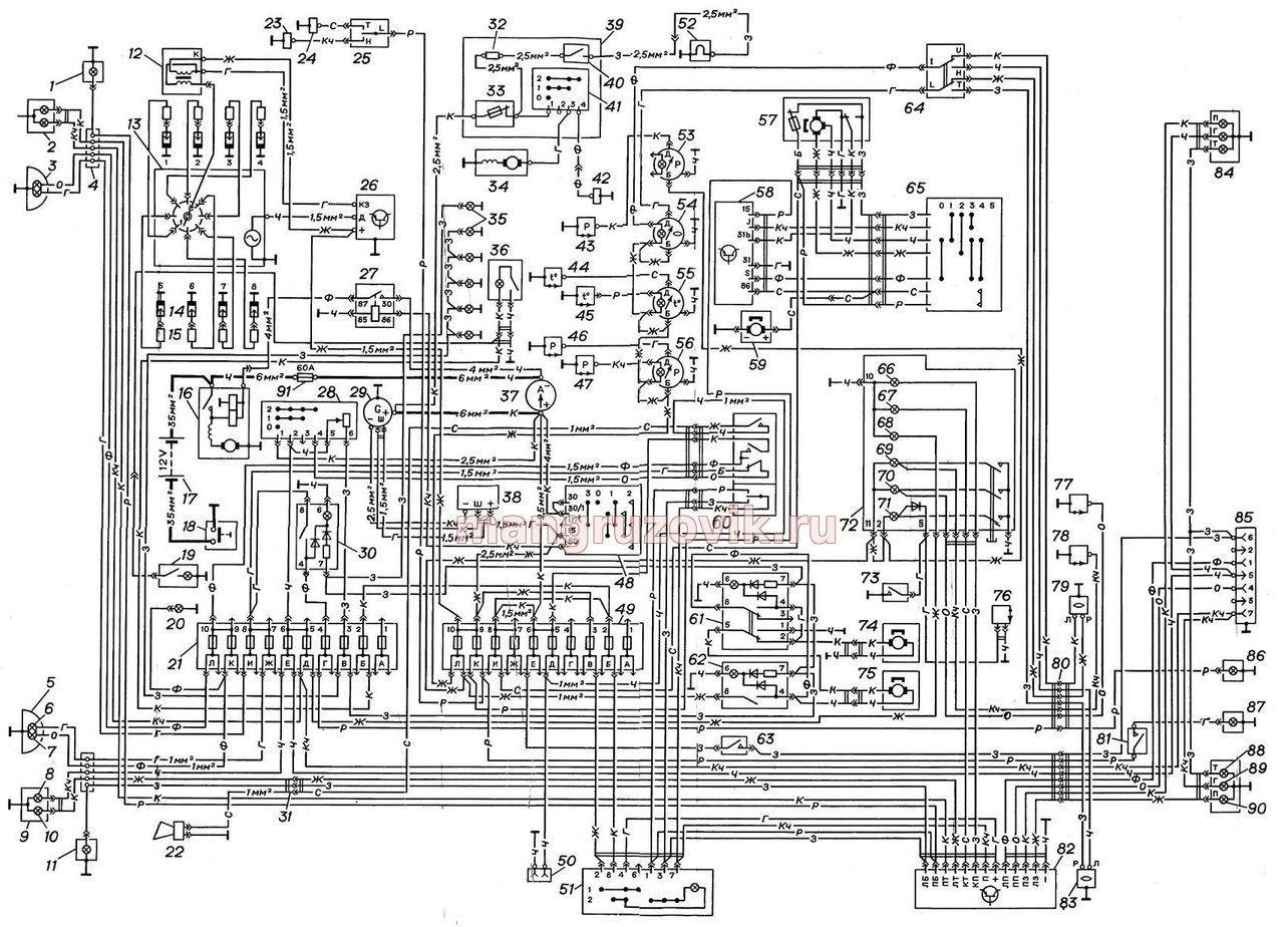 Газ 3307 схема электрооборудования скачать фото 908