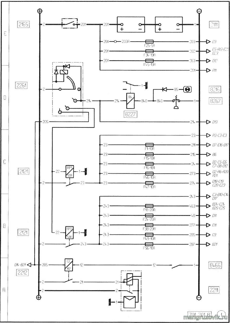 схема подключение прицепа на вольво 400