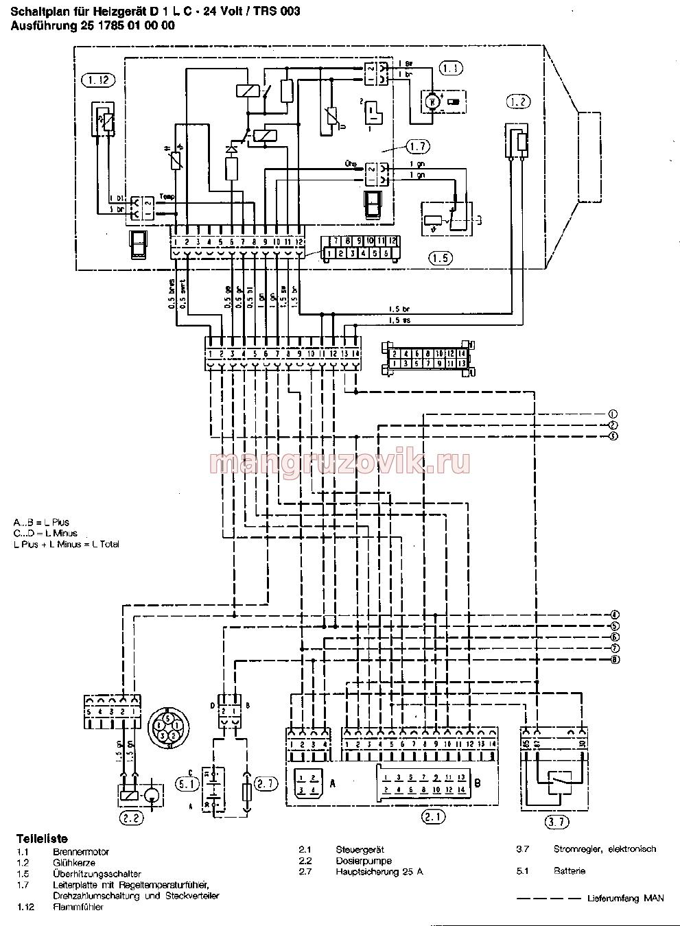 Автономный отопитель эл схема 430