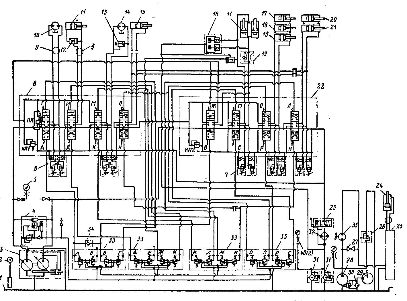 Гидравлическая схема экскаватора эо-4321 а cdw dwg.